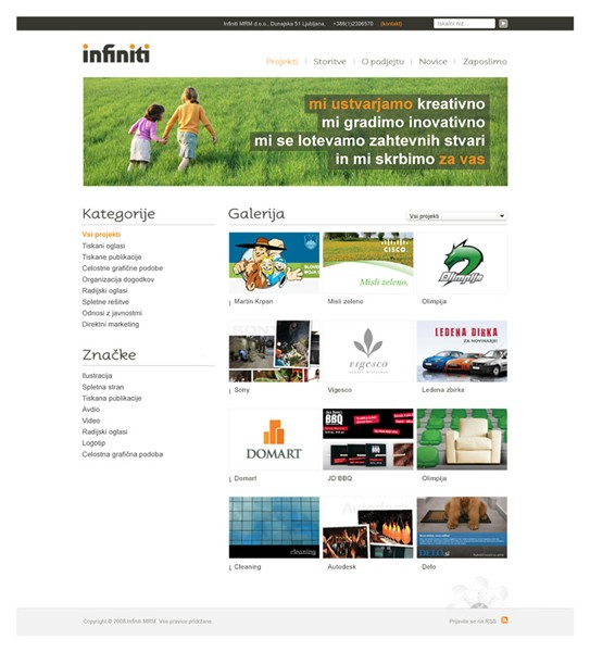 Web / GUI: Infiniti Design Agency